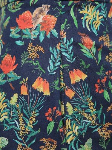 Tmavě modrá květovaná sukně annanemone