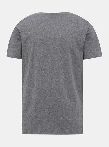 Šedo-bílé tričko Jack & Jones Emix