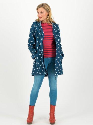 Modrý vzorovaný funkční softshellový kabát Blutsgeschwister Wild Weather