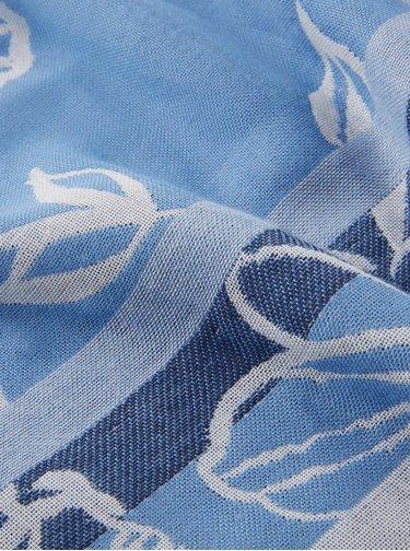 Modrá kvetovaný šatka Tom Tailor