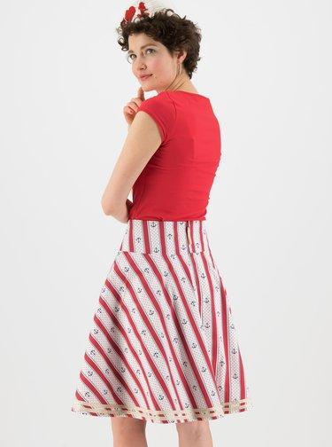 Červeno-bílá vzorovaná sukně Blutsgeschwister Sea Scout Ahoi