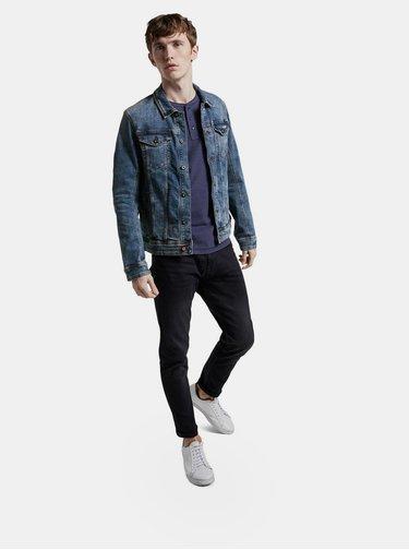 Tmavě modré pánské basic tričko Tom Tailor Denim