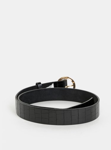 Černý dámský kožený pásek s krokodýlím vzorem Haily´s Cara