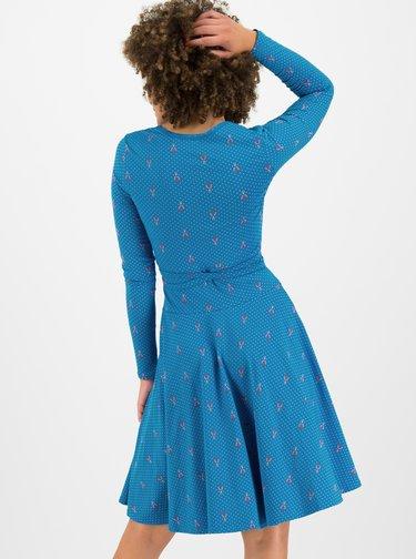 Modré puntíkované šaty Blutsgeschwister Ode To The Woods