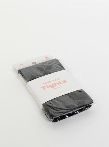 Čierne kvetované pančuchové nohavice TALLY WEiJL Rosy