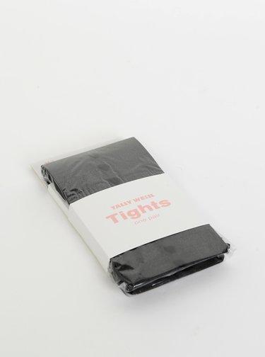 Čierne vzorované pančuchové nohavice TALLY WEiJL Hearty