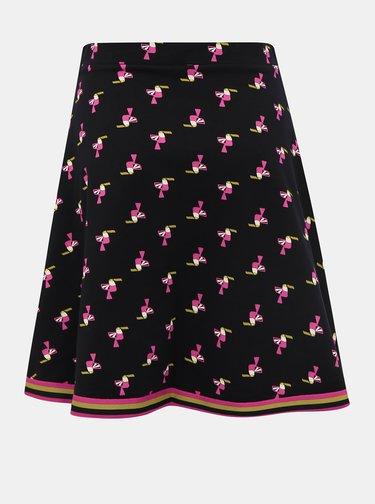 Čierna vzorovaná sukňa Blutsgeschwister Toucan