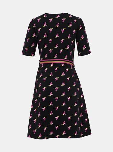 Čierno vzorované šaty Blutsgeschwister Toucan