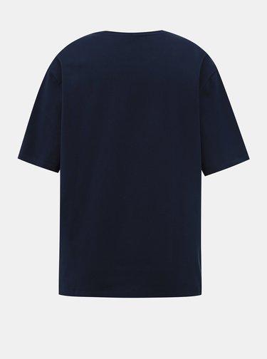 Tmavomodré dámske basic tričko Lacoste