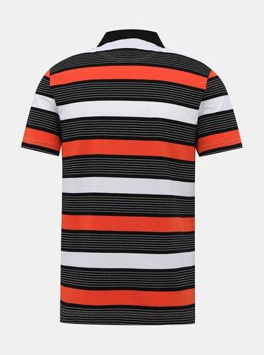 Červeno-černé pánské pruhované polo tričko Lacoste