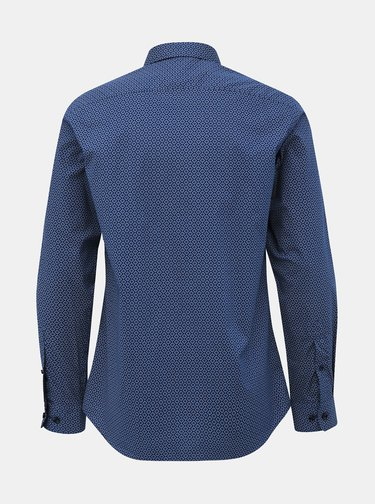 Tmavomodrá vzorovaná regular fit košeľa Selected Homme Regpen