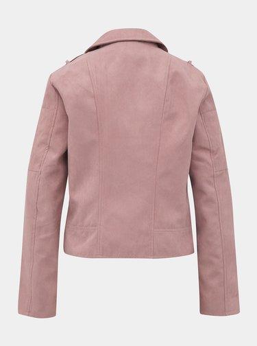 Ružová bunda v semišovej úprave Jacqueline de Yong Peach