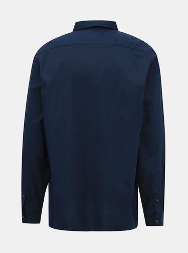 Tmavomodrá pánska slim fit košeľa Lacoste