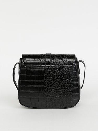 Černá crossbody kabelka s krokodýlím vzorem ONLY Pamela