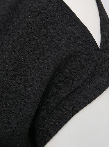 Čierne šaty s priestrihmi na ramenách ONLY CARMAKOMA Alma