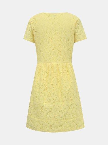 Žluté krajkové šaty VILA Sulacey