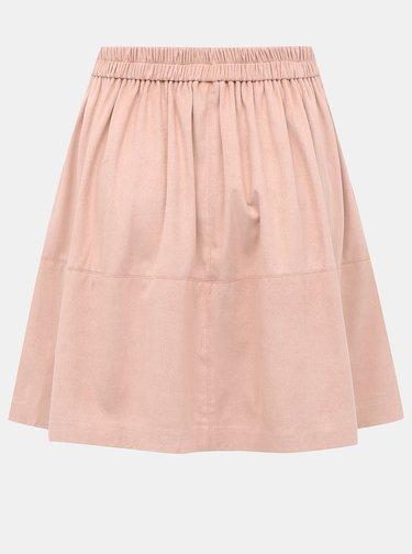 Rúžová sukňa v semišovej úprave VILA Choose