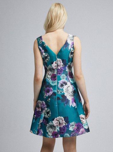 Petrolejové květované šaty Dorothy Perkins