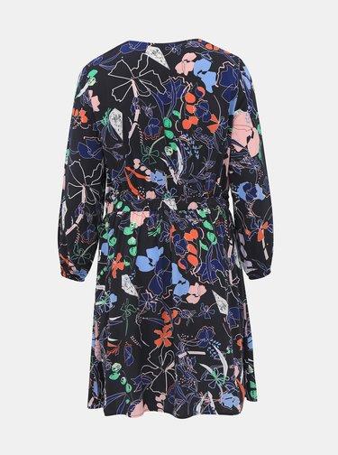 Tmavě modré květované šaty Tom Tailor My True Me
