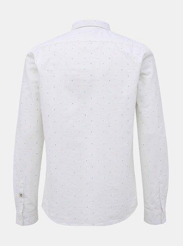 Biela pánska vzorovaná košeľa Tom Tailor Denim