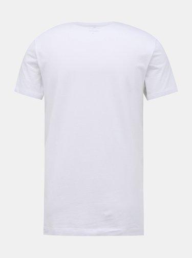 Biele pánske basic tričko Tom Tailor