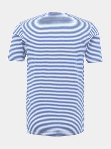 Modro-bílé pruhované basic tričko Selected Homme The Perfect