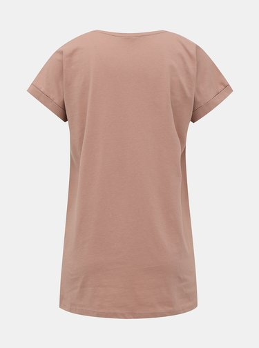 Růžové basic tričko Jacqueline de Yong Louisa