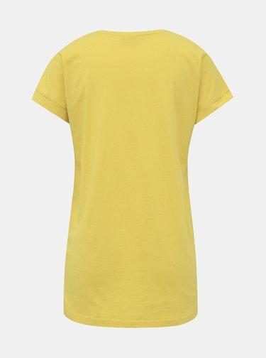 Žluté basic tričko Jacqueline de Yong Louisa