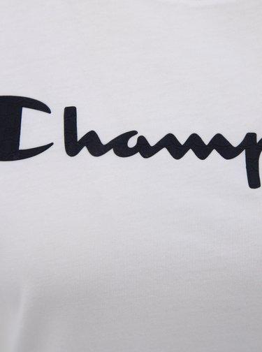 Biele dámske regular fit tričko s potlačou Champion