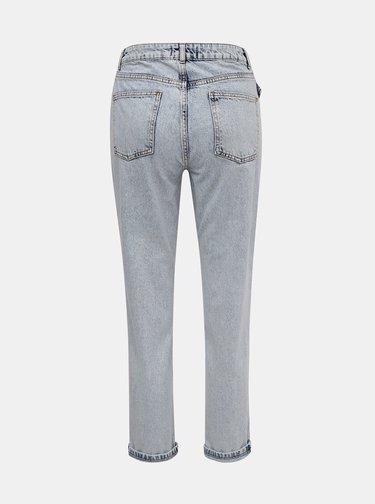 Světle modré zkrácené mom fit džíny Miss Selfridge