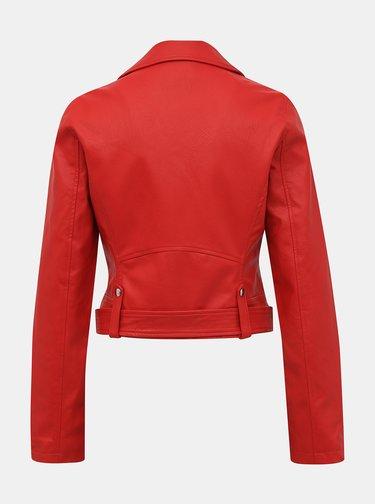 Červená koženková bunda TALLY WEiJL