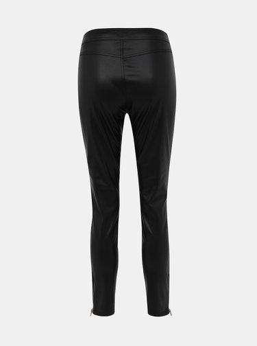 Černé koženkové kalhoty TALLY WEiJL