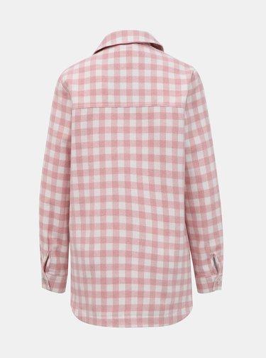Rúžová kockovaná košeľa TALLY WEiJL