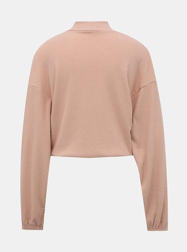 Rúžový krátky ľahký sveter TALLY WEiJL Lola