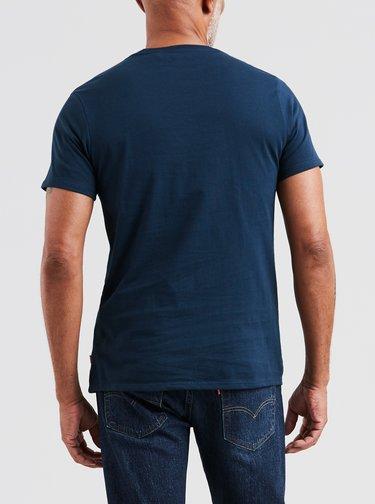 Tricou barbatesc bleumarin cu print logo Levi's®