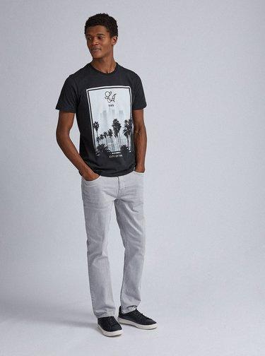 Černé tričko s potiskem Burton Menswear London