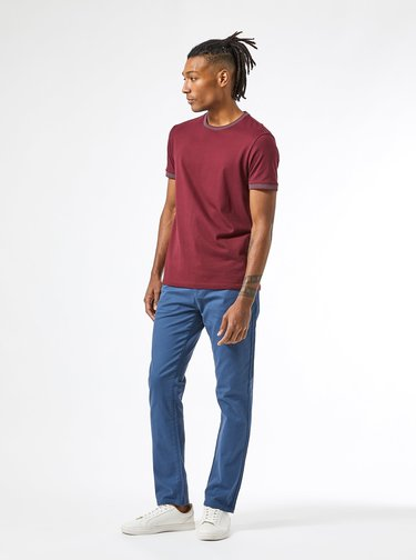 Modré chino kalhoty Burton Menswear London