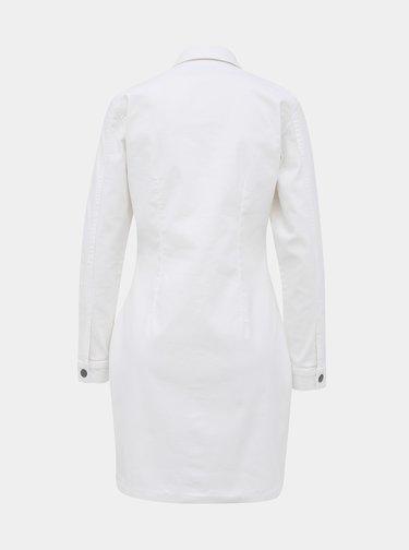 Biele rifľové košeľové šaty Jacqueline de Yong Sanna