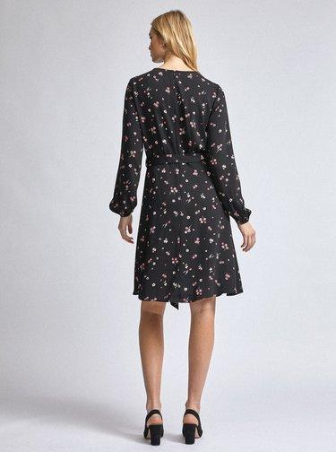 Černé květované šaty Dorothy Perkins Tall