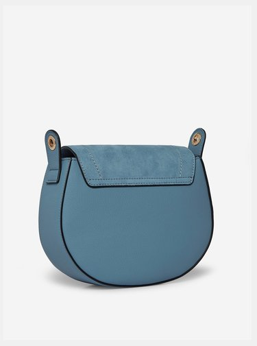 Modrá crossbody kabelka s detaily v semišové úpravě Dorothy Perkins