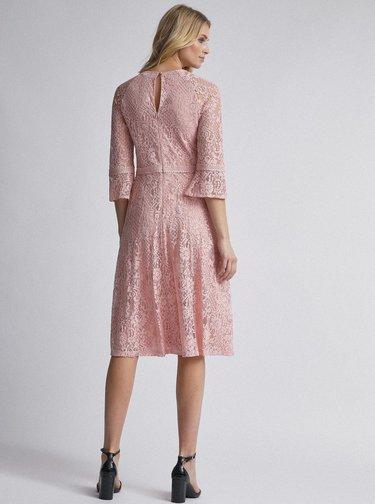 Svetloružové krajkové šaty Dorothy Perkins Tall