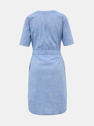 Svetlomodré šaty s prímesou ľanu ZOOT Sabina