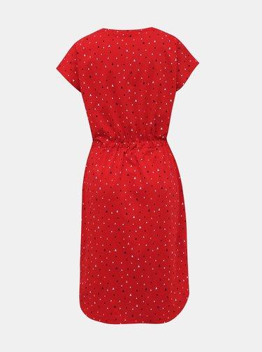 Červené vzorované šaty ZOOT Baseline René