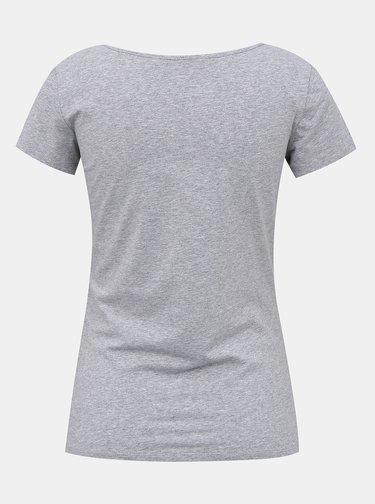 Šedé dámske basic tričko ZOOT Baseline Nora