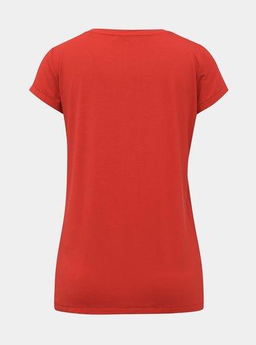 Červené dámske basic tričko ZOOT Baseline Alva