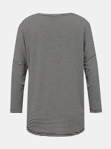 Bílo-černé dámské pruhované basic tričko ZOOT Baseline Corina
