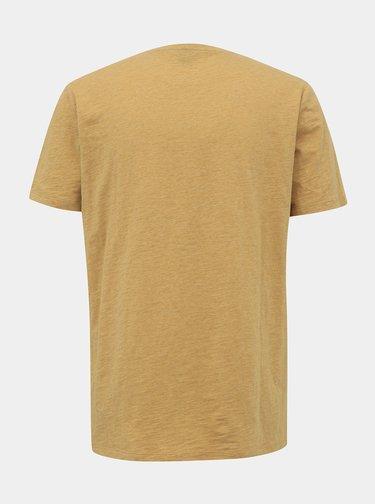 Tricouri basic pentru barbati ZOOT - galben