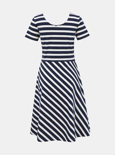 Belo-modré pruhované basic šaty ZOOT Jesica