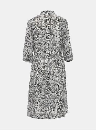 Černo-bílé vzorované košilové šaty Jacqueline de Yong Monica