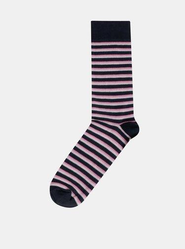 Sada pěti párů pruhovaných ponožek v modré a šedé barvě Burton Menswear London